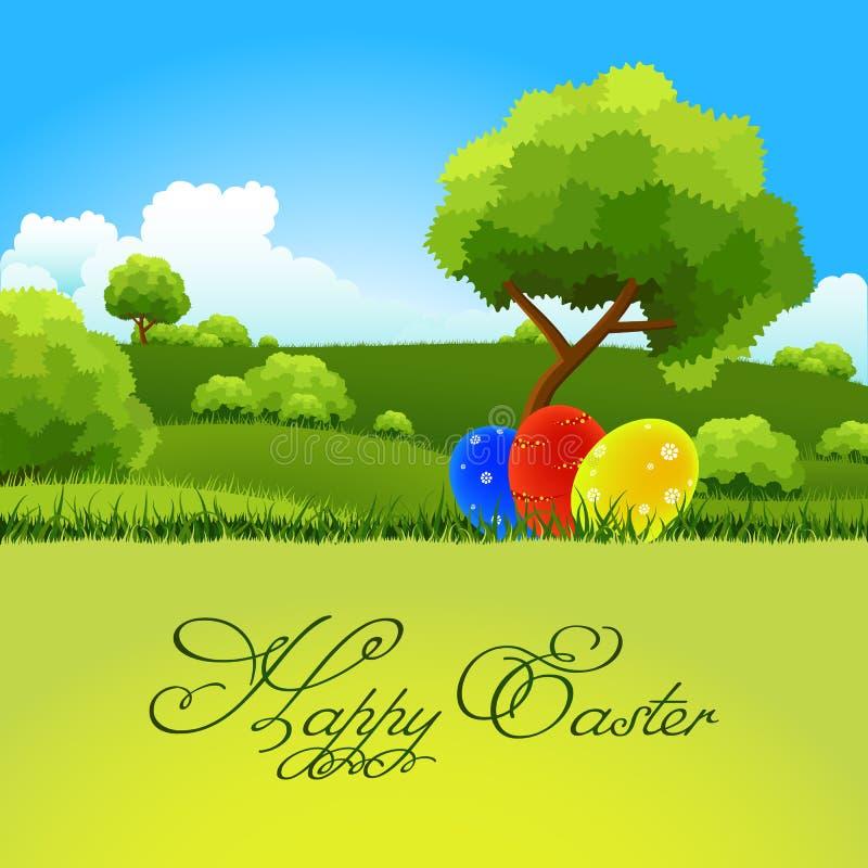 Download Cartão de Easter ilustração stock. Ilustração de flor - 29840122