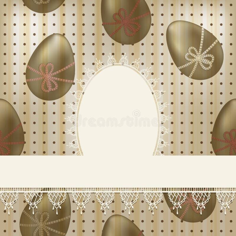 Cartão de easter do vintage ilustração stock