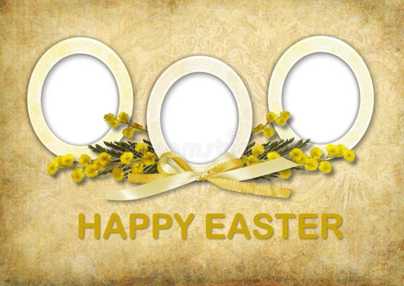 Cartão de Easter do vintage ilustração royalty free