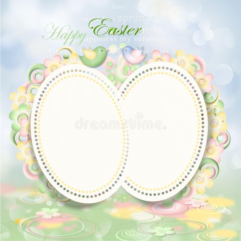 Cartão de Easter feliz ilustração royalty free