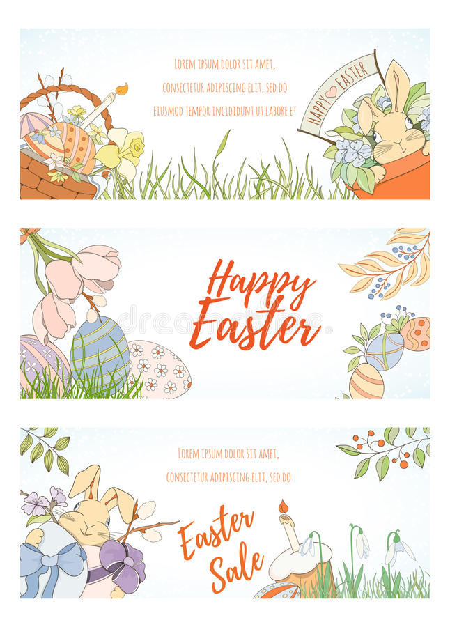 Cartão de easter feliz ilustração stock