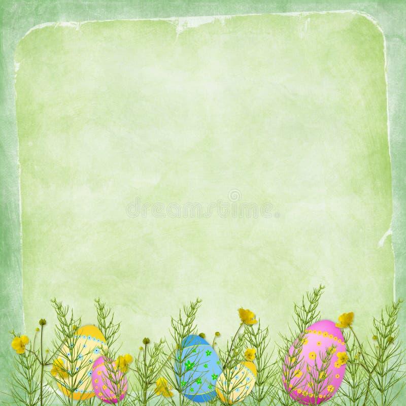 Cartão de Easter para o feriado com ovo ilustração royalty free