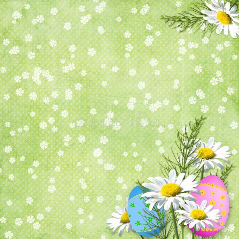 Cartão de Easter para o feriado com ovo ilustração stock