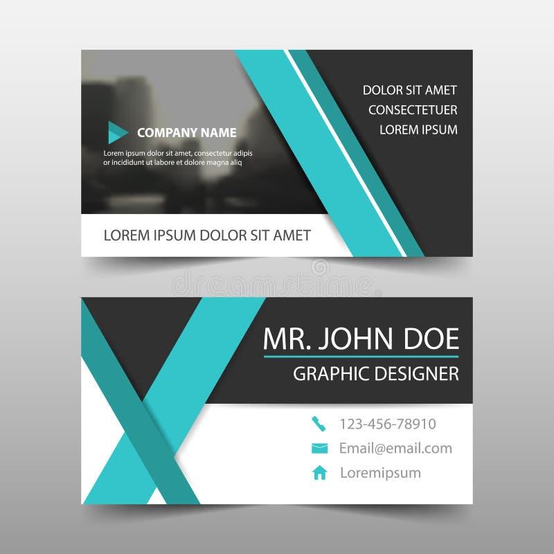 Cartão de empresa azul, molde do cartão de nome, molde limpo simples horizontal do projeto da disposição, ilustração stock