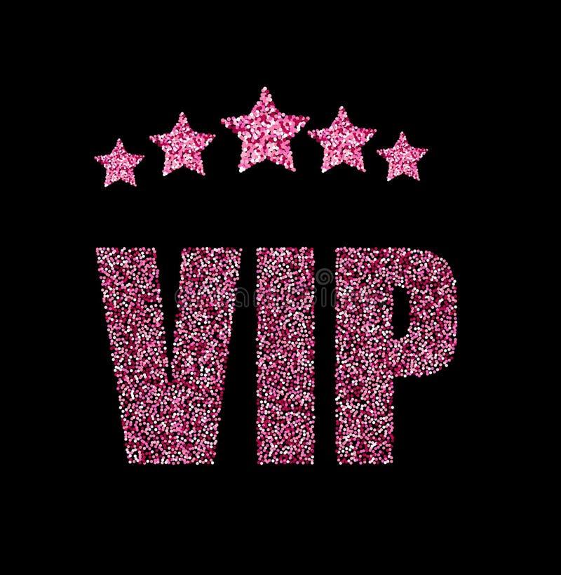 Cartão de estado do VIP ilustração royalty free