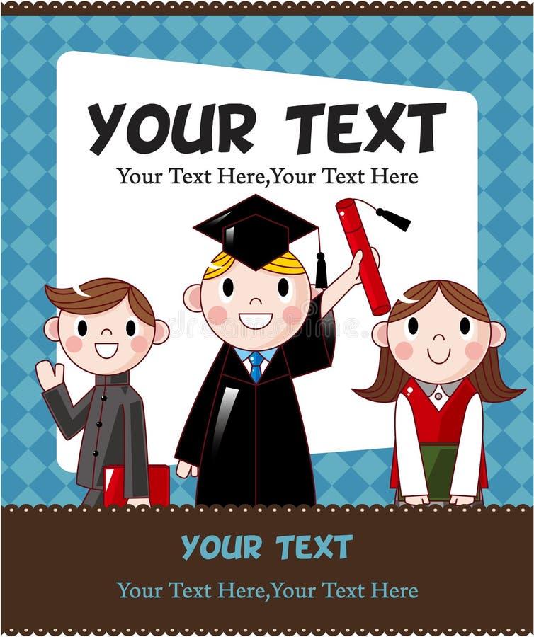 Cartão de estudante dos desenhos animados ilustração do vetor