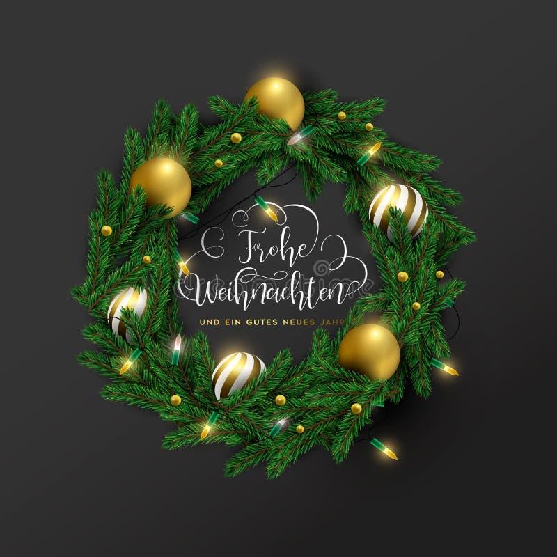 Cartão de exaustão de natal de ano novo alemão fotografia de stock royalty free