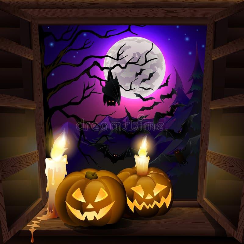 Cartão de Hallowee ilustração stock