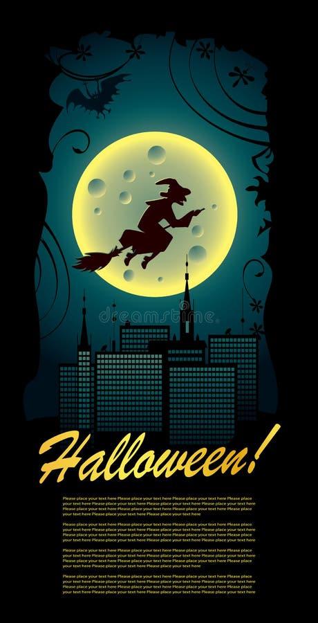 Cartão de Halloween ilustração royalty free