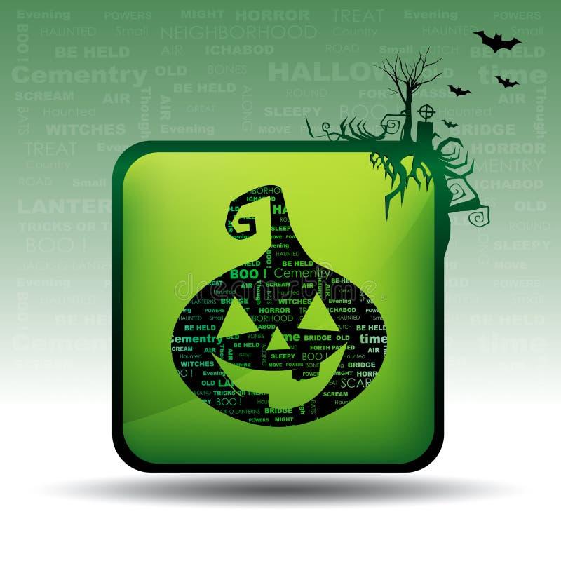 Download Cartão de Halloween ilustração stock. Ilustração de expressão - 16874237