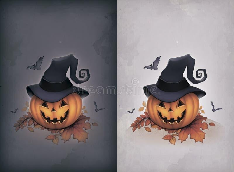 Download Cartão de Halloween ilustração stock. Ilustração de danificado - 26510040