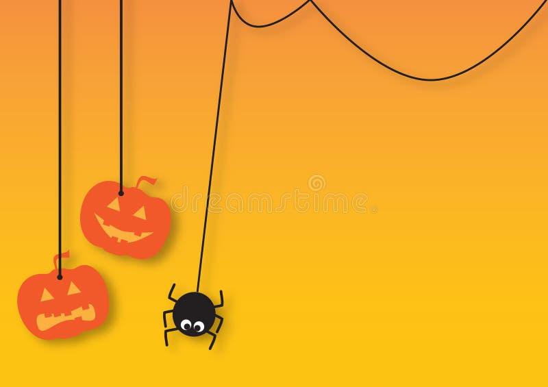 Cartão de Helloween foto de stock