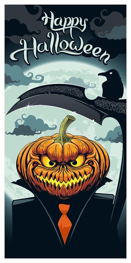 Cartão de Helloween ilustração do vetor