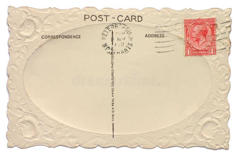 Cartão de Ingleses do vintage imagem de stock
