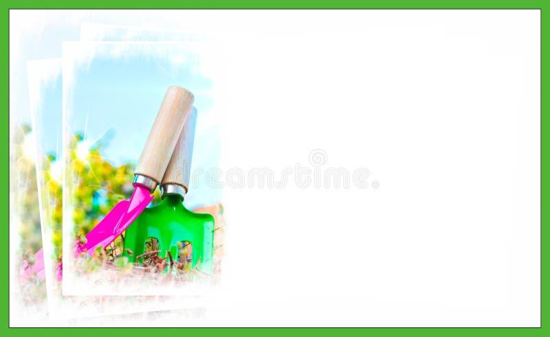 Cartão de jardinagem do conceito fotos de stock