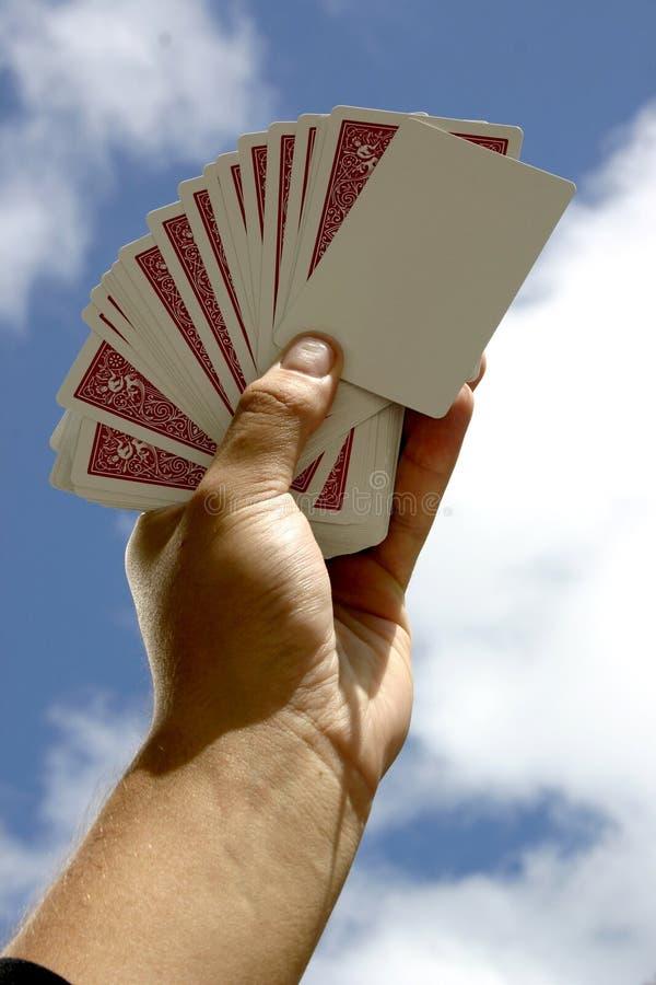 Cartão de jogo em branco imagens de stock royalty free
