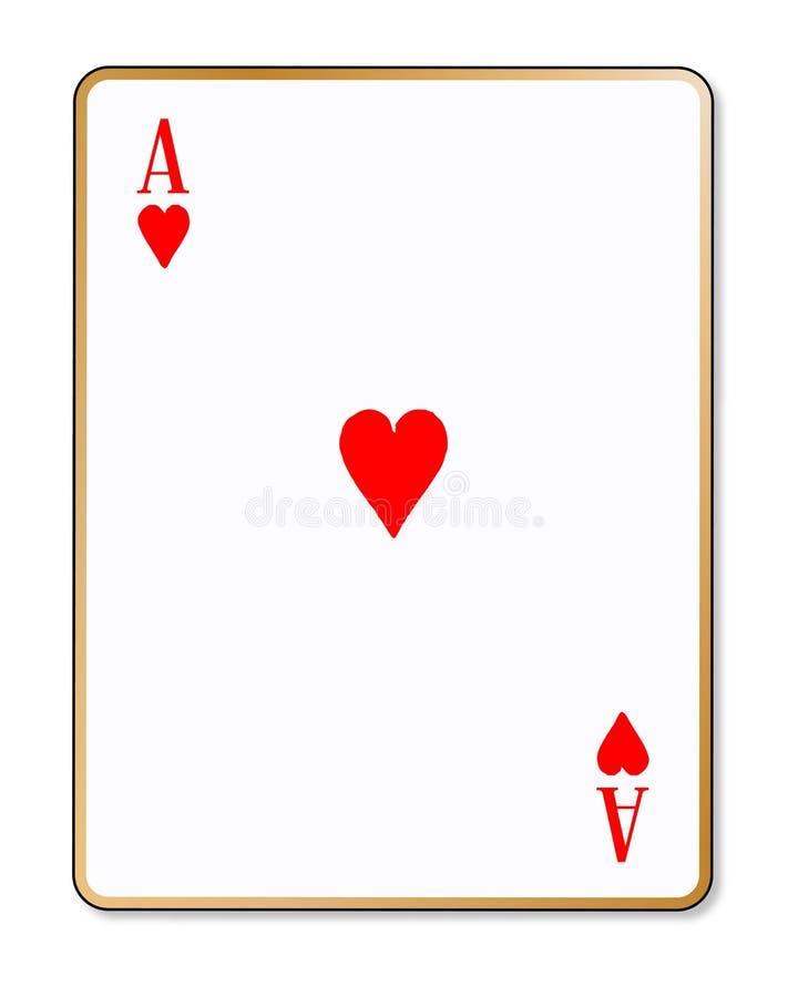 Cartão de jogo isolado corações de Ace ilustração do vetor
