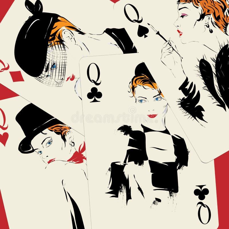 Cartão de jogo poker casino ilustração do vetor