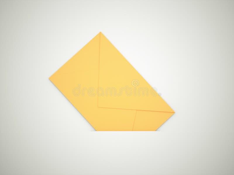 Cartão de letra amarelo ilustração royalty free