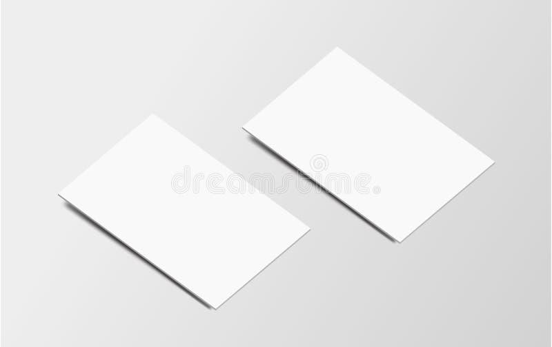 Cartão de marcagem com ferro quente da ilustração do vetor no fundo cinzento imagem de stock