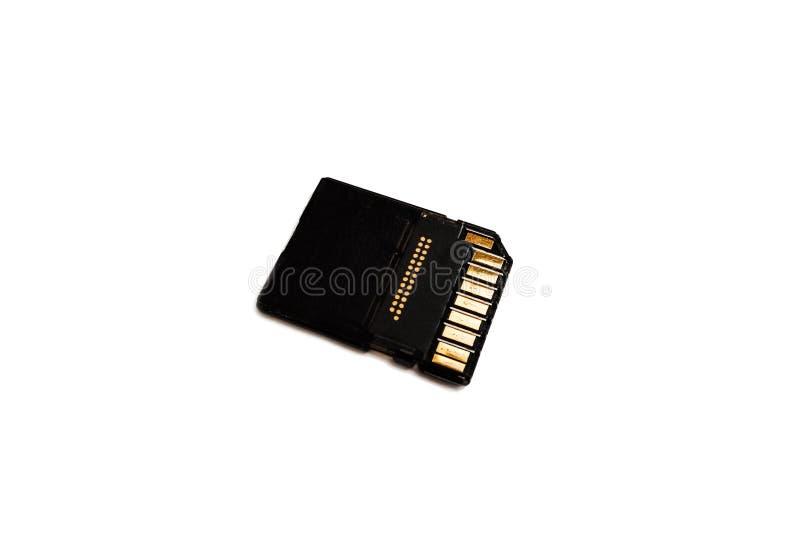 Cartão de memória isolado no fundo branco imagens de stock royalty free