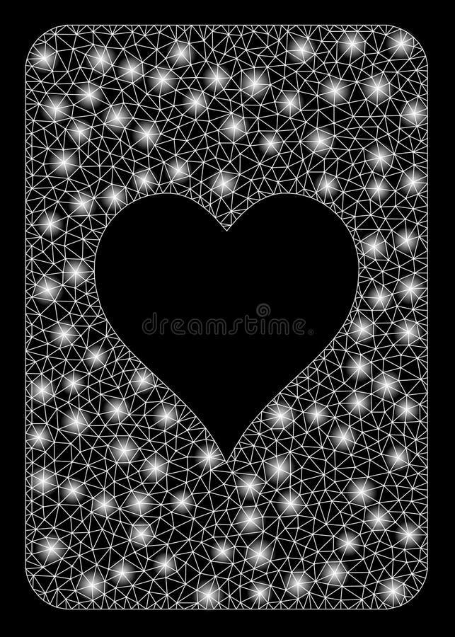 Cartão de Mesh Wire Frame Hearts Gambling do alargamento com pontos do alargamento ilustração stock