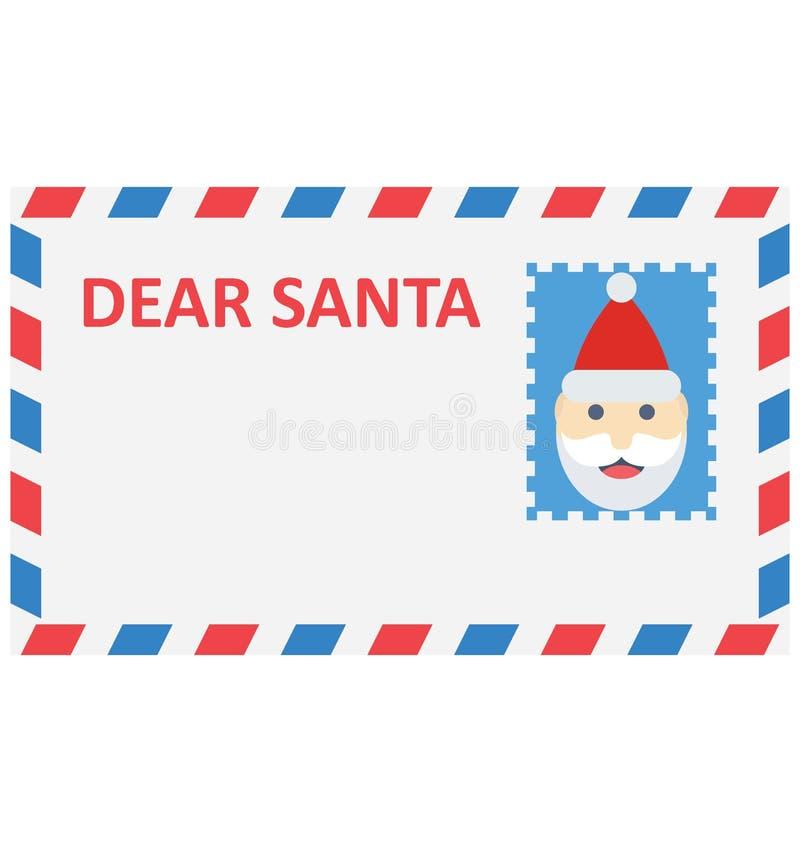 cartão de Natal, ícone do vetor do cumprimento do Natal que pode facilmente ser alterado ou editado ilustração do vetor