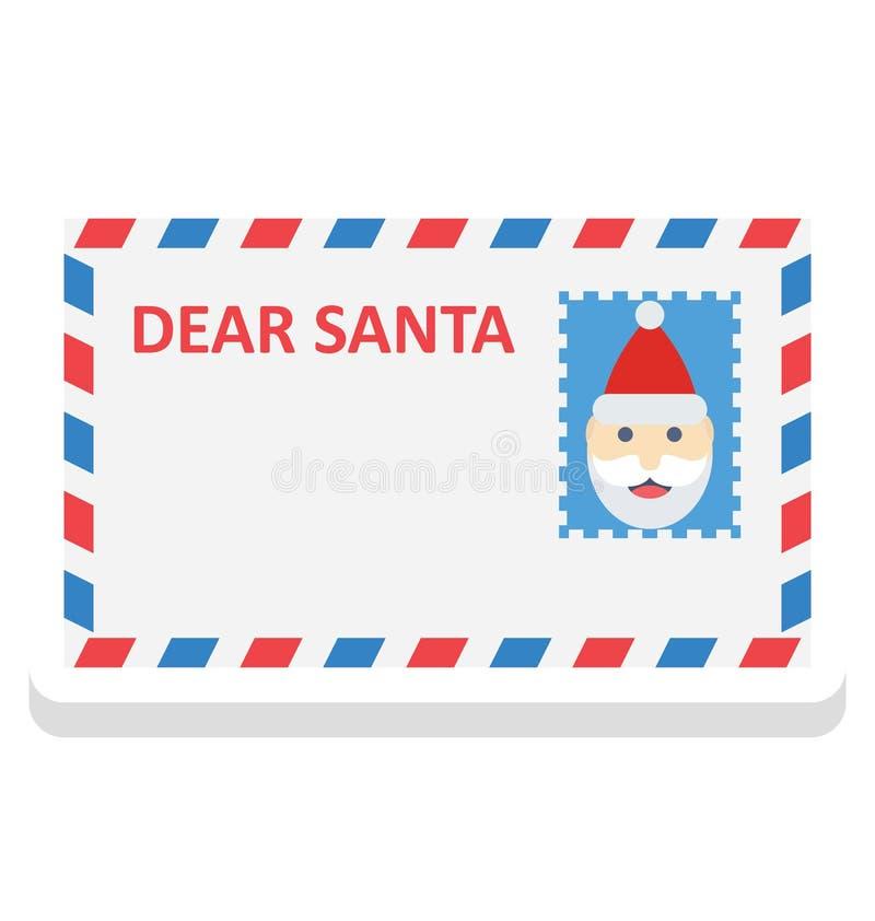 cartão de Natal, ícone do vetor do cumprimento do Natal que pode facilmente ser alterado ou editado ilustração royalty free