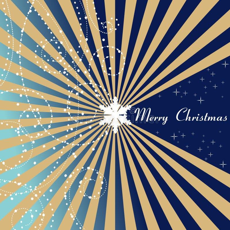 Cartão de Natal azul - Feliz Natal ilustração do vetor