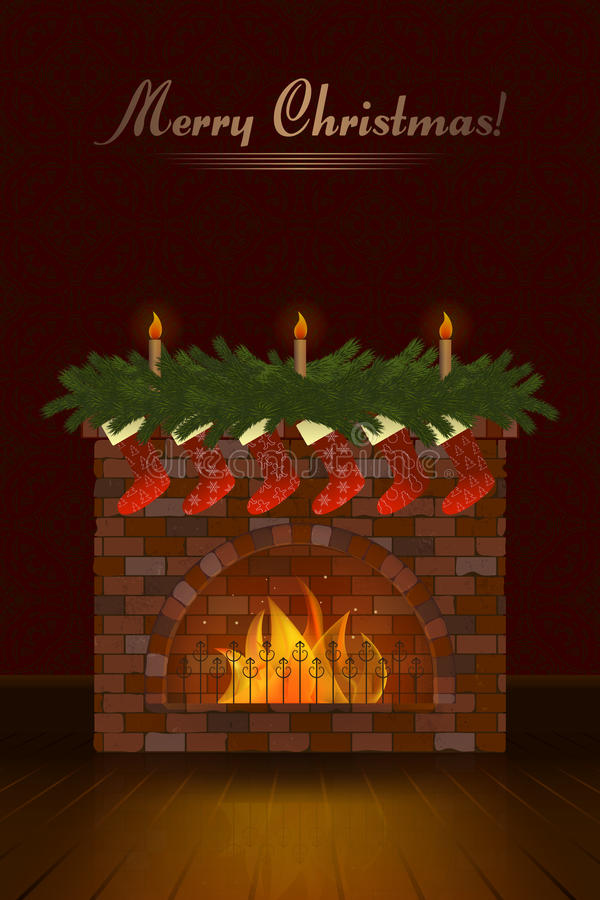Cartão de Natal bonito do vetor ilustração royalty free