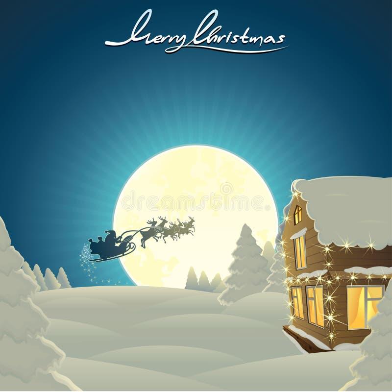 Cartão de Natal clássico ilustração do vetor