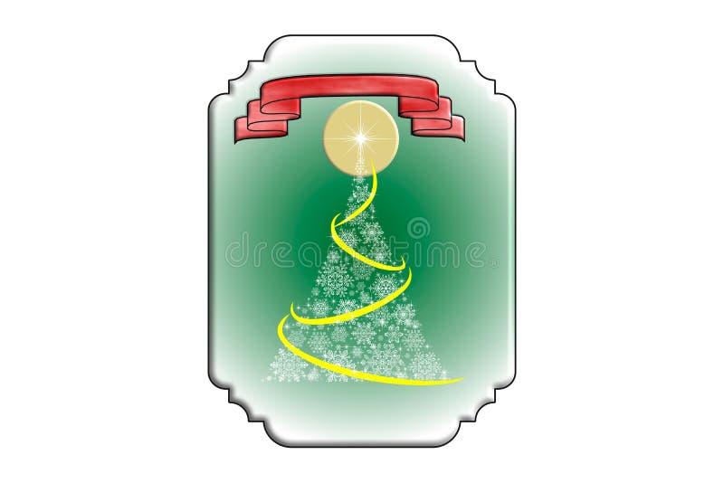 Cartão de Natal com árvore de Natal ilustração stock