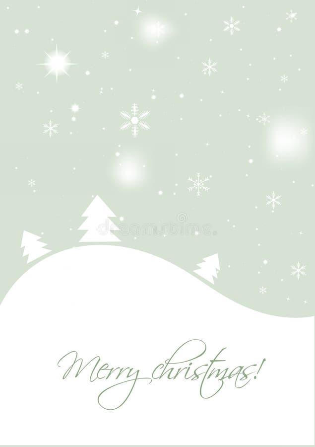 Download Cartão De Natal Com árvores Ilustração do Vetor - Ilustração de gráfico, cumprimento: 16860510