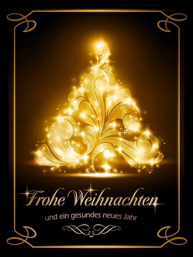 Cartão De Natal Com Alemão Imagens de Stock Royalty Free