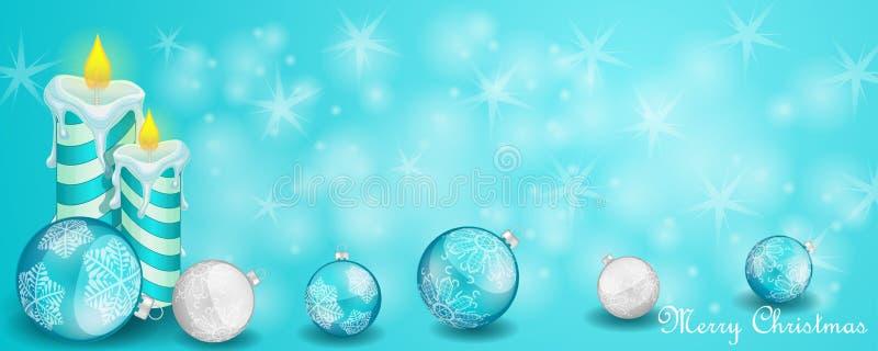 Cartão de Natal com decoração ilustração royalty free
