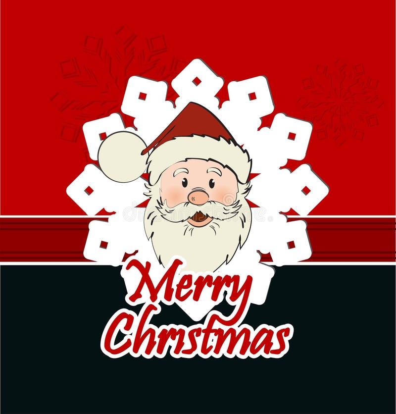 Download Cartão De Natal Com Santa Claus Ilustração do Vetor - Ilustração de snowflake, fundo: 29841440