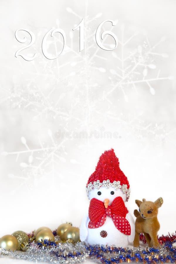 Cartão de Natal com um boneco de neve imagens de stock royalty free