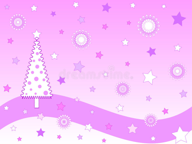 Cartão de Natal cor-de-rosa ilustração stock