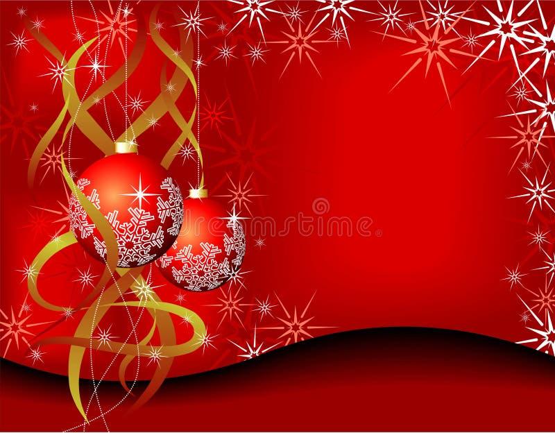 Cartão de Natal da beleza ilustração do vetor