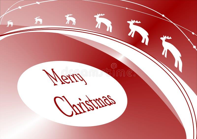 Cartão de Natal da rena ilustração royalty free