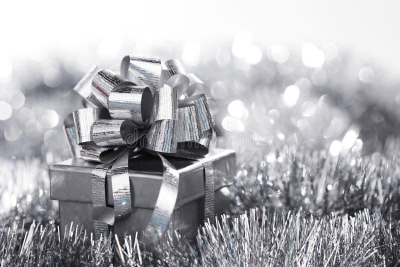 Cartão de Natal de prata foto de stock royalty free