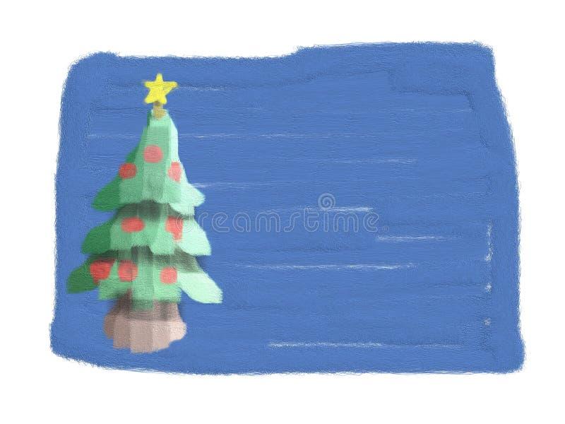 Cartão de Natal (desenhado pela criança) ilustração stock