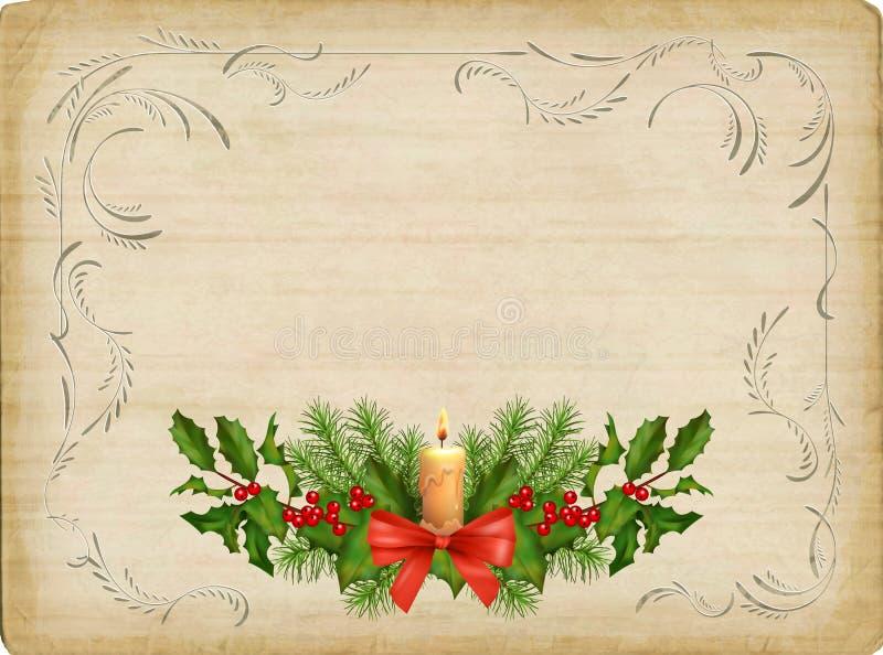 Cartão de Natal do vintage ilustração do vetor