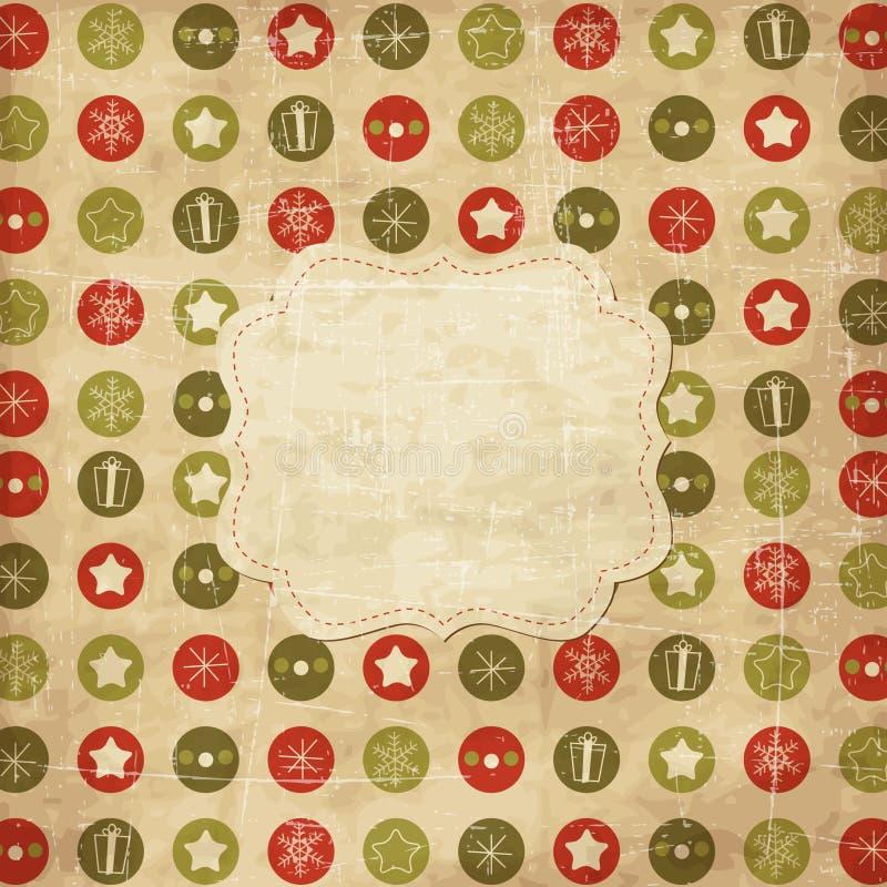 Cartão de Natal do vintage ilustração stock