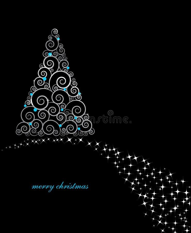 Download Cartão De Natal Do Vintage Com árvore Do Feriado Ilustração do Vetor - Ilustração de gráfico, cumprimento: 16860461