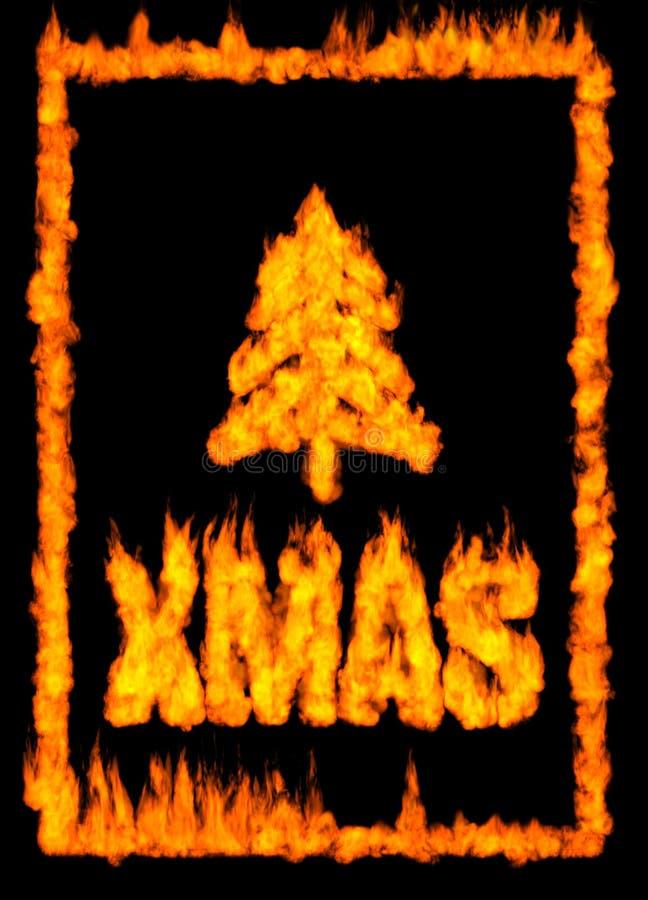 Cartão de Natal feito do incêndio