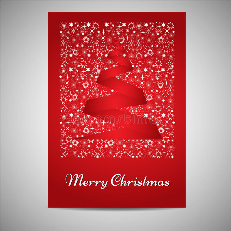 Cartão de Natal/grupo bonitos do cartaz ilustração stock