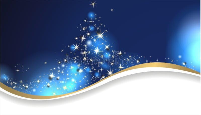 Cartão de Natal mágico ilustração stock
