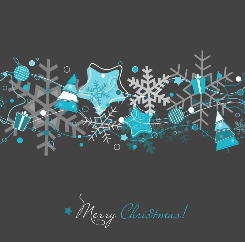 Cartão de Natal no cinza ilustração do vetor
