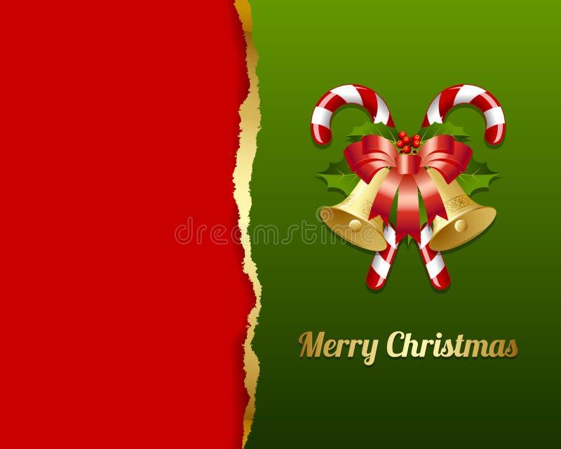 Cartão de Natal rasgado ilustração stock